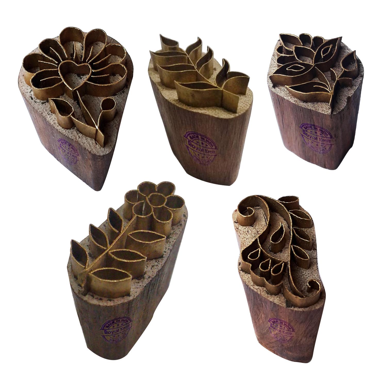 Floral Brass Blocks BHtag0001