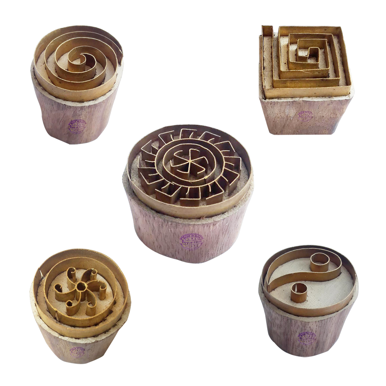 Round Brass Blocks BHtag0037