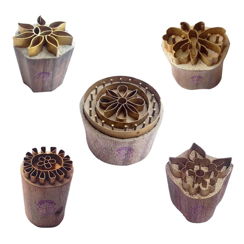 Floral Brass Blocks BHtag0039