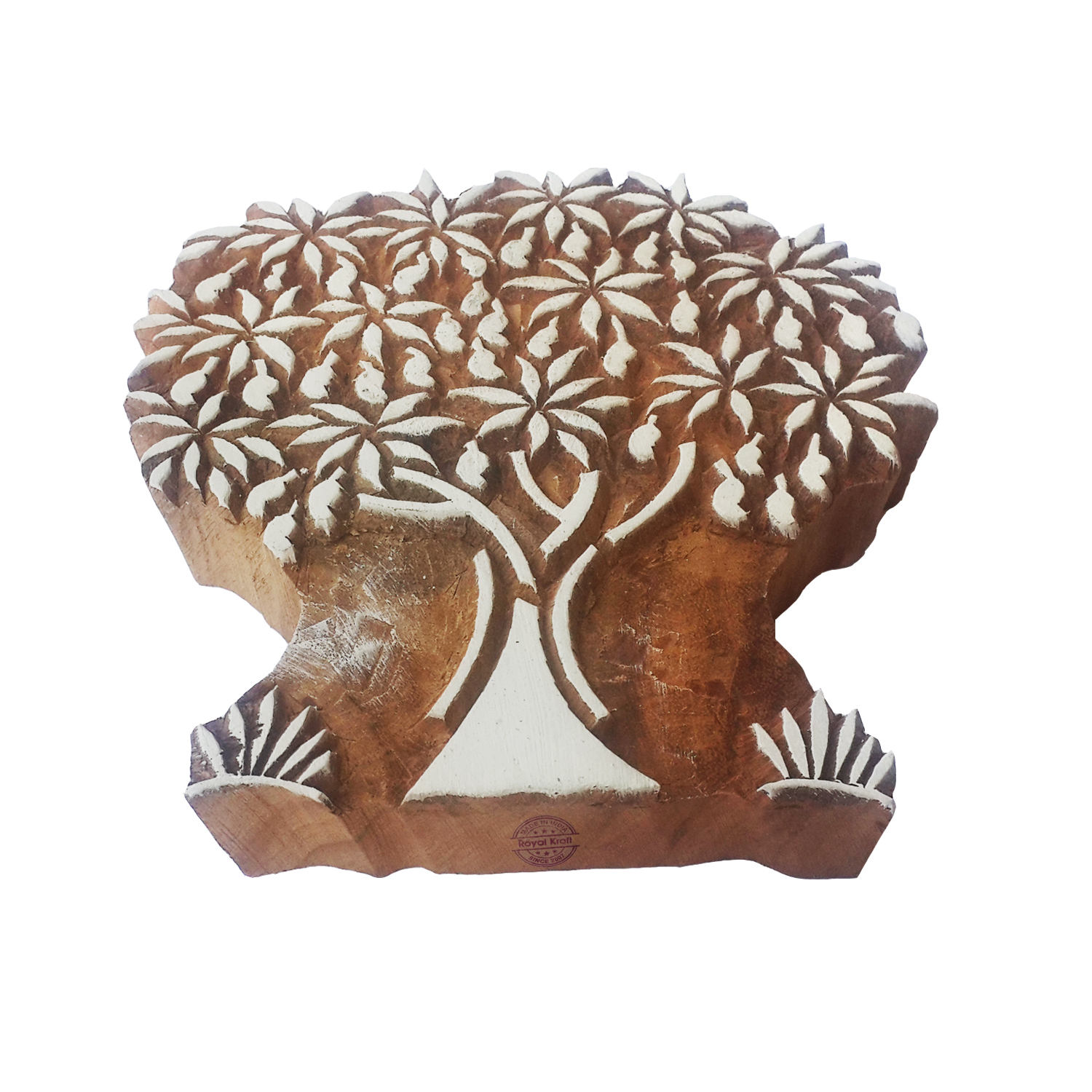 Large Tree Printing Blocks 5 inches
