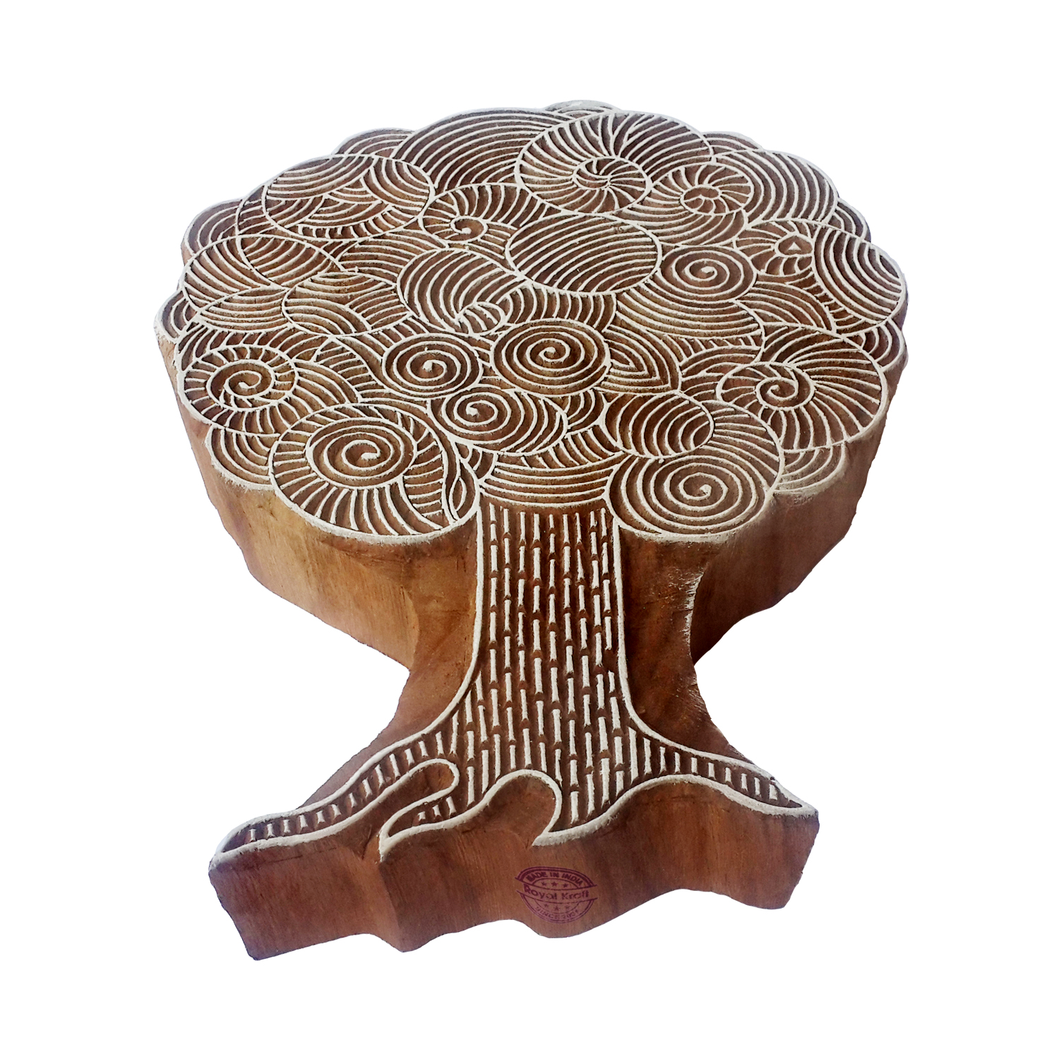 Large Tree Printing Blocks 7.9 inches