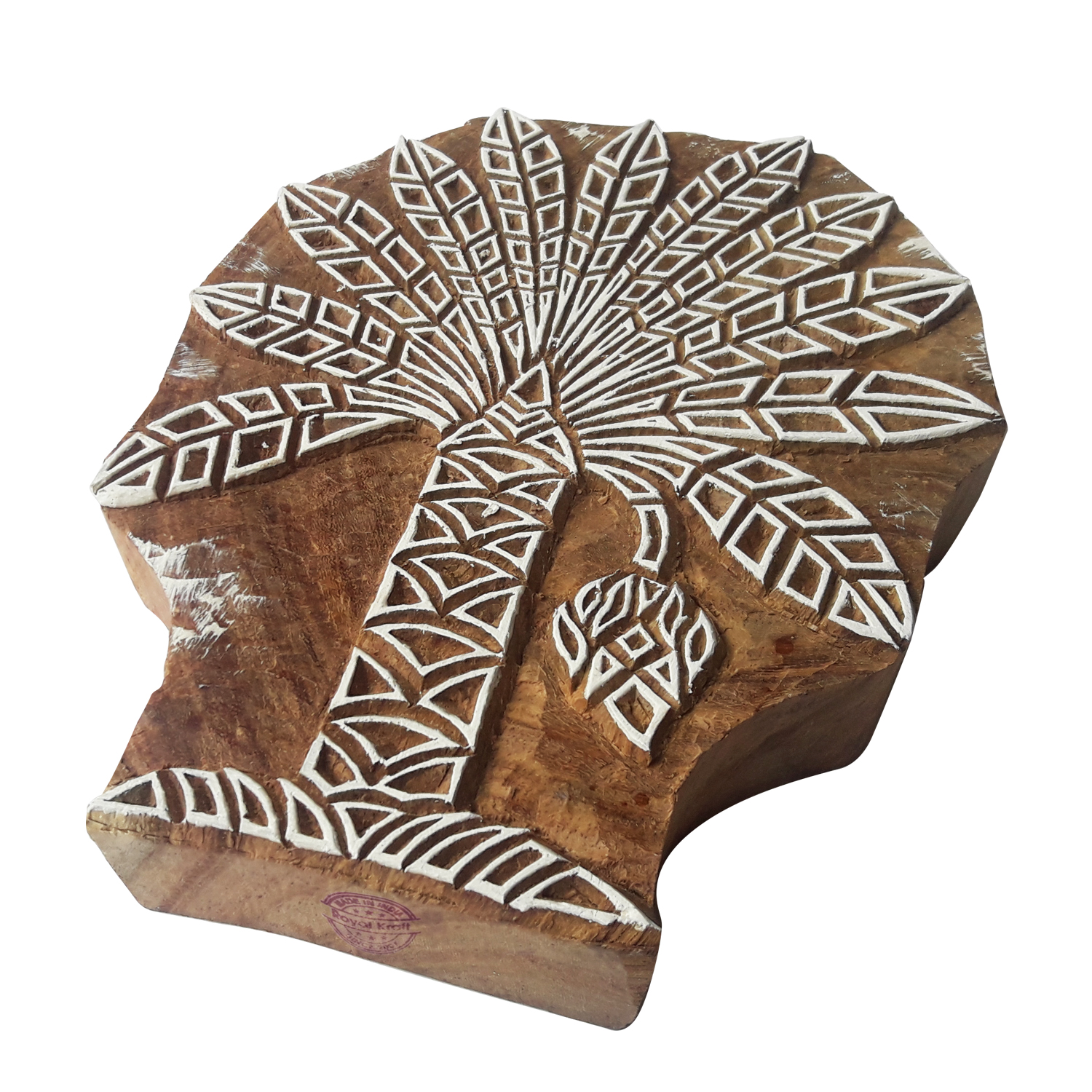 Large Tree Printing Blocks 6.2 inches