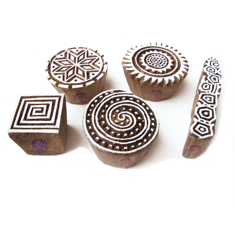 hand geschnitzte holzstempel zum drucken diy henna ton. Black Bedroom Furniture Sets. Home Design Ideas