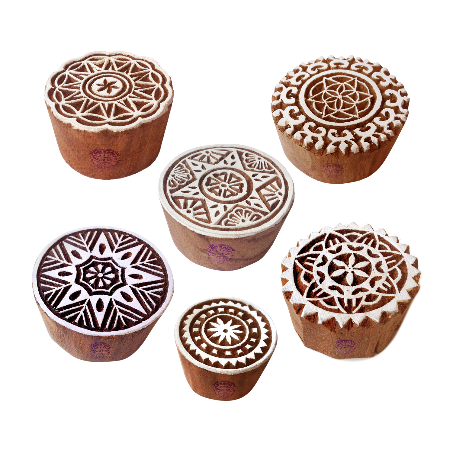 Round Printing Stamps 2.1 inches
