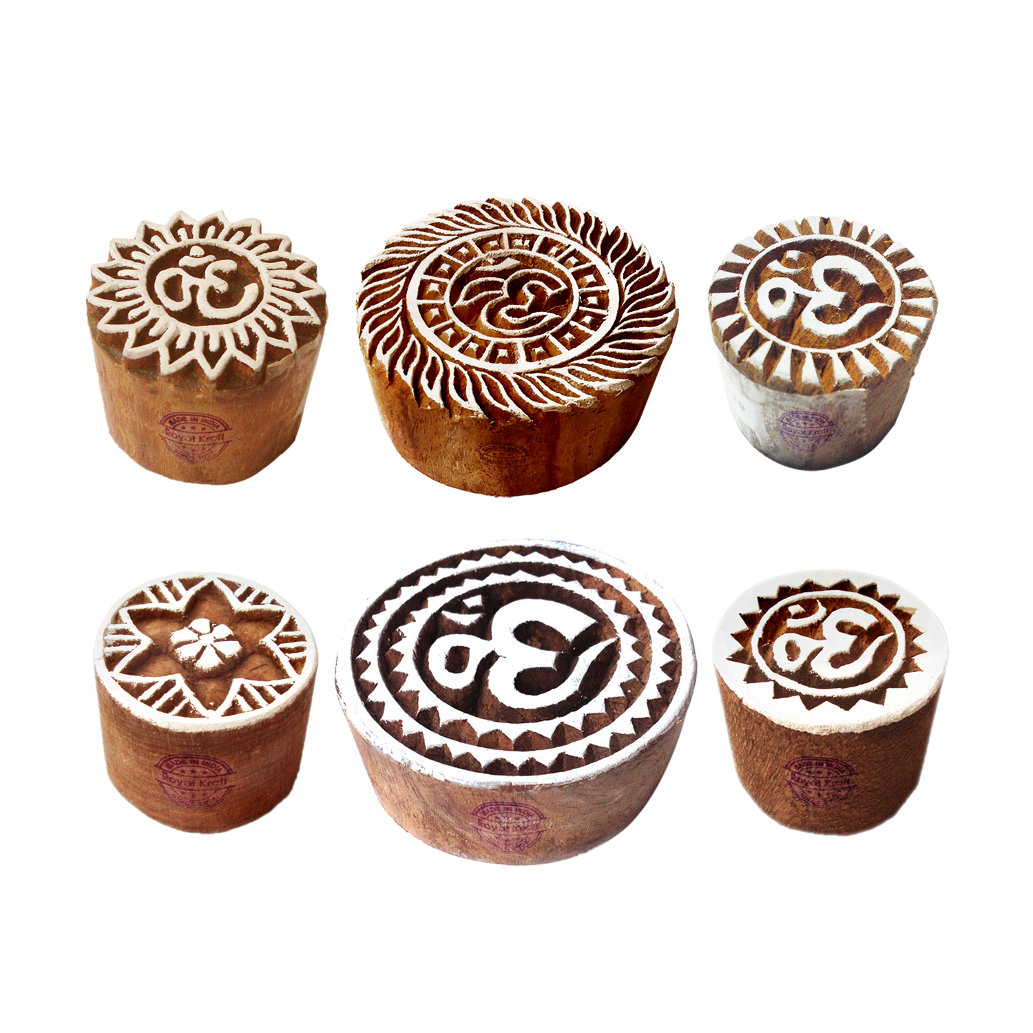 Round Printing Stamps 2.2 inches