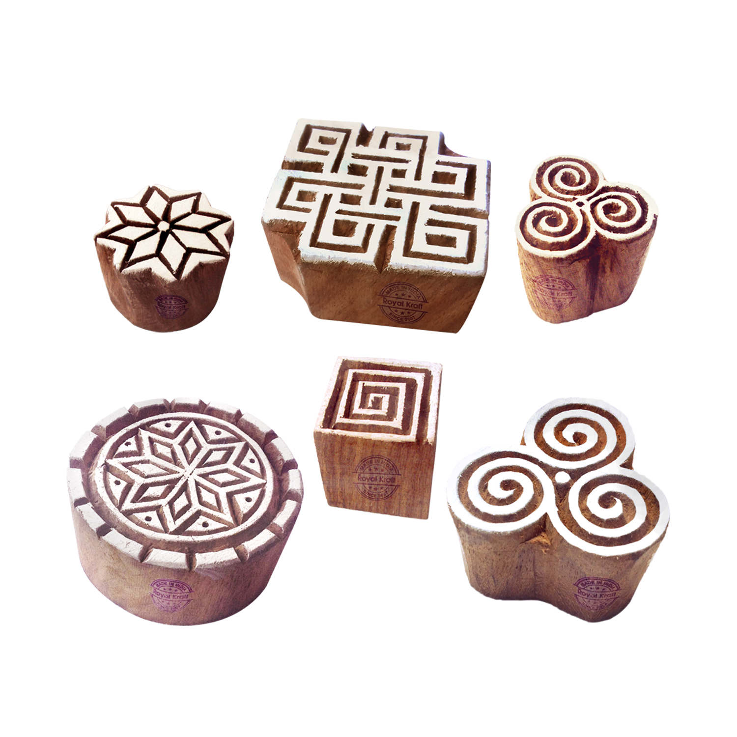 Round Printing Stamps 2.5 inches
