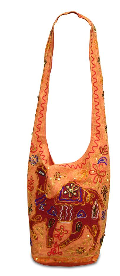 Embroidered Cotton Jhola Bag