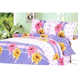 Beautiful Floral Violet Bedsheet