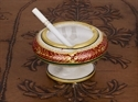 Hand Painted Marble Ashtray With Stand