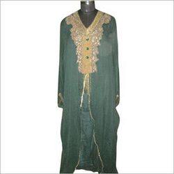 Fancy Silk Beads Work Kaftan