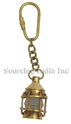 Brass Nautical Marine Lantern Lamp Keychain