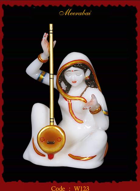 Meerabai Pearl White Idols