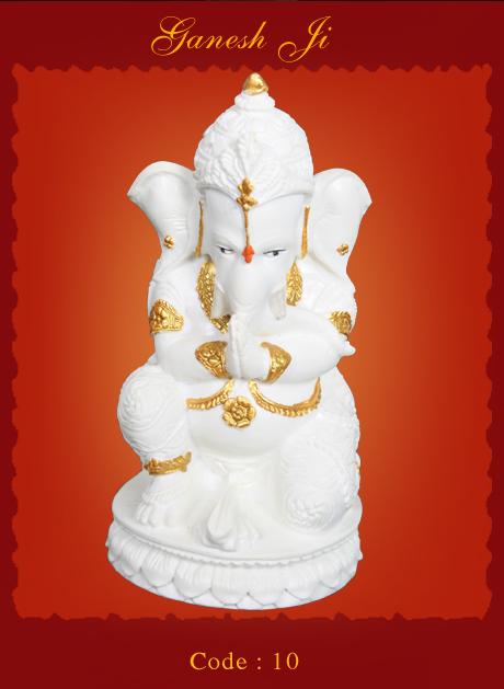 Ganesha Glow Polystone Statue