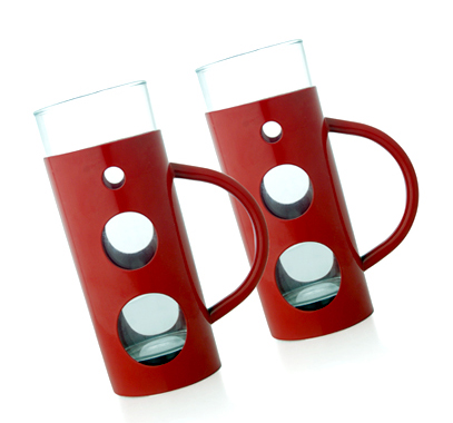 Red Coloured Beer Mug