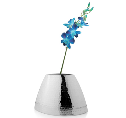 Steel Hammered Design Flower Vase