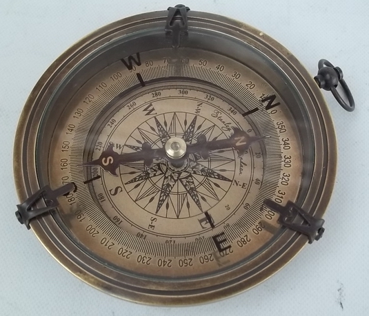 Antique Vintage Style Brass Compass