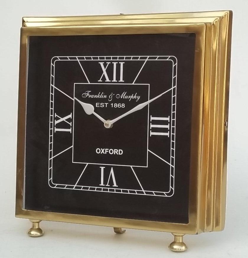 Golden Finish Decorative Table Clock