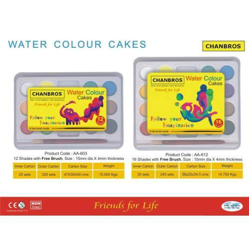 Children Water Color Cakes