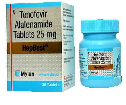 Hepbest Tenofovir Alafenamide Taf 25mg Tablets