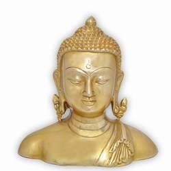 Metal Art Buddha Bust