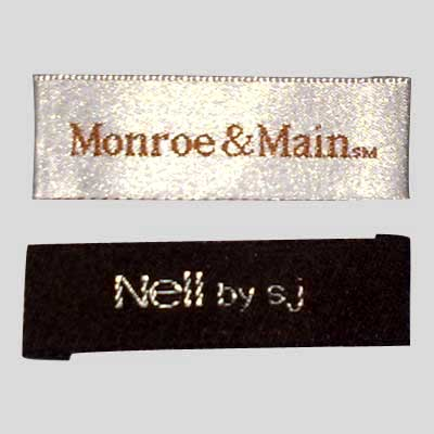 Clothing Taffeta Woven Labels