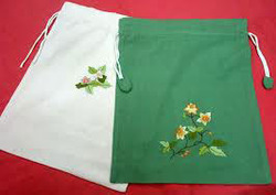 Embroidered Drawstring Pouches