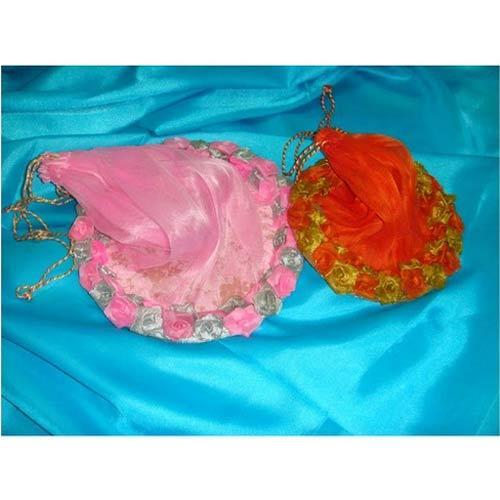 Decorative Flower Potli Bag