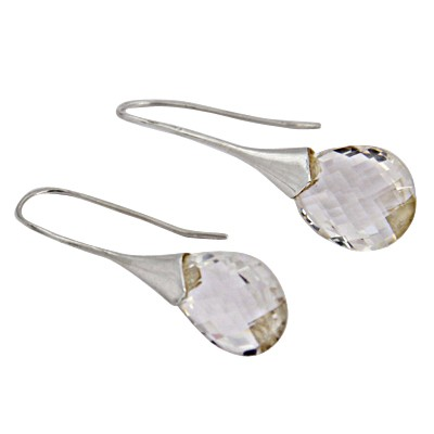 Excellent New Crystal Silver Earrings