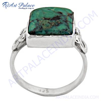 Attractive Turquoise Gemstone Silver Ring
