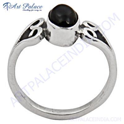 High Quality Black Onyx Gemstone Silver Ring