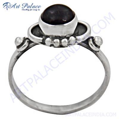 Hot Selling Silver Amethyst  Gemstone Ring