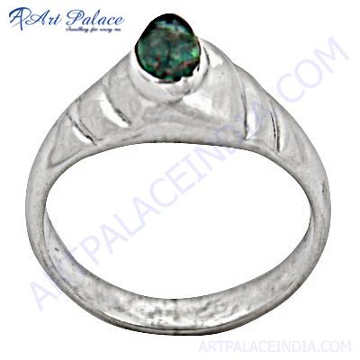 Romantic Blue Topaz Princess  Gemstone Silver Ring