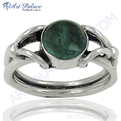 Antique Style Silver Apatite Gemstone Rings