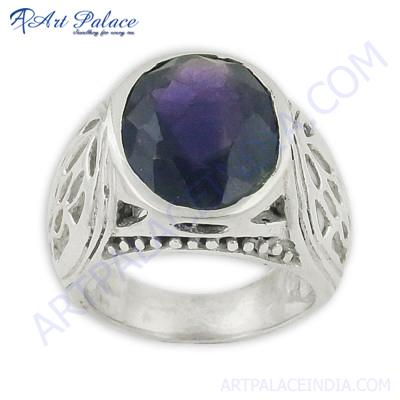 Attractive Amethyst Silver Gemstone Rings