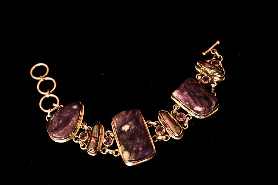 Amethyst Gemstone Sterling Silver Bracelet Jewellery From Jaipur