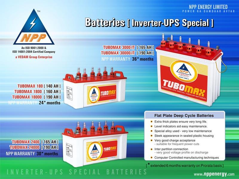 Tubomax Inverter Ups Batteries