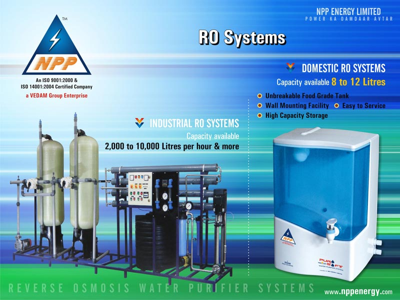 Domestic Ro Purifier Systems