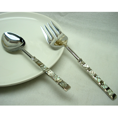 Shatterproof - Dishwasher safe Salad Server In Stainless Steel