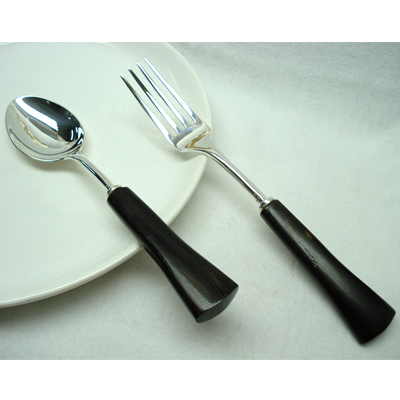 silver plated salad server utensils india