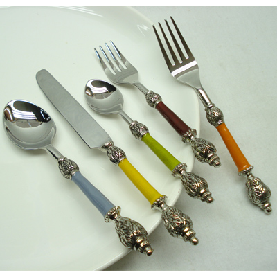 5 Pieces Flatware Set In Stainless Steel From India