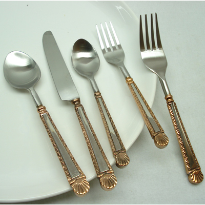 Brass And Stainless Steel Made Flatware Set For Wholesale