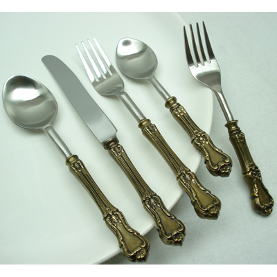 Stainless Steel Silver Flatware sets for 5 - 8 - 12 - 16