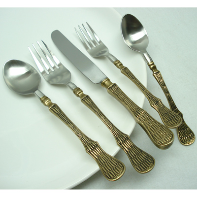 Stainless Steel And Brass Flatware Sets Suppliers