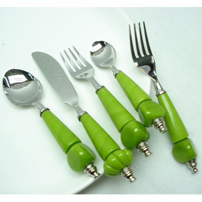 Horn And Steel Table ware Flatware Sets From India