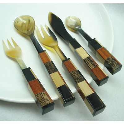 Servewares, Salad Server, Beaded Flatware