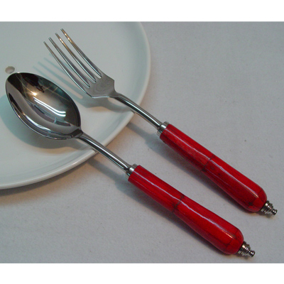 Set of Stainless Steel Salad Servers