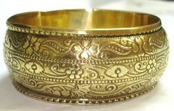 Carving Metal Bangles