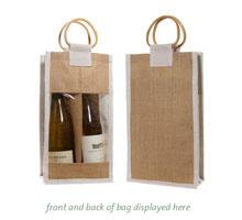 Jute Single Wine Bottle Bags
