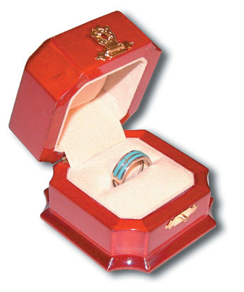 Fancy Wooden Ring Box