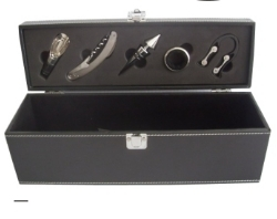 Black Pu Wine Case Set